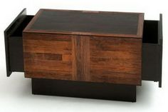 reclaimed wood coffee table with drawers