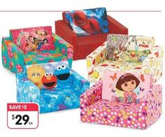 Kids Character Flip-Outs Flip Out, Kid Character, Couches, Cool Kids, Catalog, Toys, Children, Fun, Activity Toys