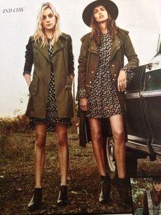 Short skirts and long jackets