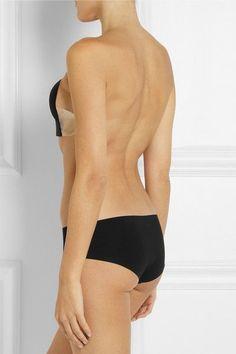 Fashion Forms - U-plunge Self-adhesive Backless Strapless Bra - Black - C