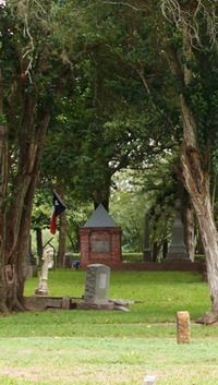 grave site of Mirabeau Lamar, Jane Long, and Walter Burton.born a slave in N.C served as Sheriff of Ft Bend County, served 4 terms in the Texas Senate. Richmond Texas, Eyes Of Texas, Visit Texas, Fort Bend, Loving Texas, Cemetery Art, Texas History, Graveyards, Texas Travel