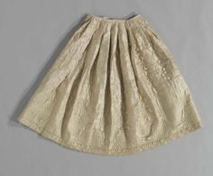 Woman's quilted petticoat  English  Silk with glazed tabby weave wool back and quilted with wool bats  Mid-18th century  Area of Origin: England  930.107  ROM2006_7976_6