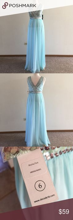 👗NWT dress with built in bra Never worn! Size 6. Perfect for prom! Decode 1.8 Dresses Maxi
