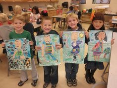 Kindergarten students recently finished their annual Self Portrait lesson. This is one project that I repeat each year. What parent wouldn't melt when they see these?