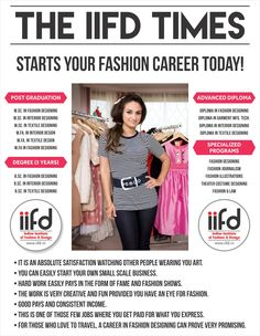 The IIFD TIMES Starts Your Fashion Career Today For Designing Courses Contact