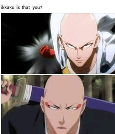 One Punch Man/Bleach: thank fuck, i'm not the only one who had that thought !!! saitama/ikkaku