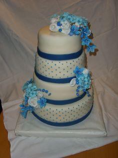 svatební dort v modrém cake blue wedding