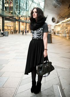 df05e5f0063 Stephanie of FAIIINT    Show Me Your Bones  - mom would say this was wayy  too goth for me to ever wear but i love this outfit