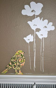 Washi tape bird by wishywashitape, via Flickr