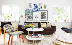 Een mooie mix van design, vintage, een tikkeltje brocante en hier en daar wat Ikea