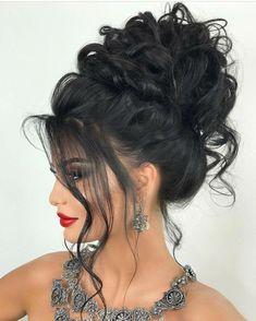 44 Easy Formal Hairstyles For Long Hair - Hair ispiration - Frisuren Formal Hairstyles For Long Hair, Up Hairstyles, Pretty Hairstyles, Wedding Hairstyles, Hairstyle Hacks, Fashion Hairstyles, Elegant Wedding Hair, Hair Wedding, Big Hair