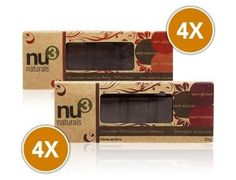 """O Chocolate com Cranberry, da Nu3 Naturals, além de delicioso é elaborado com 50% de cacau, um alimento rico em """"gorduras do bem"""", fibras, vitaminas e minerais, além de conter adição de cranberry desidrada, uma frutinha pequena no tamanho, mas rica em nutrientes, tais como minerais, vitaminas, especialmente vitamina C e E."""