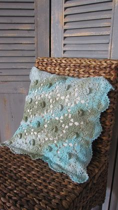 Vintage Crocheted Pillow Parts Tie Dye Shabby Chic by designsbyagi