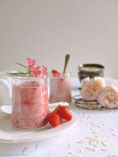 Cook A Life! by Maeva • Phirni aux fraises version vegan { crème de riz indienne }