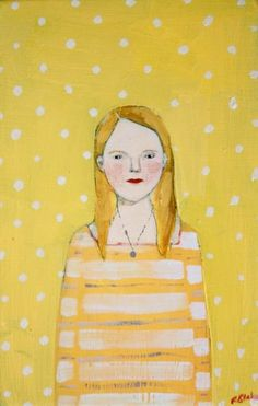 by amanda blake art, via Flickr I like Amanda's use of polka dots, stripes etc. for framing edges and developing backgrounds.