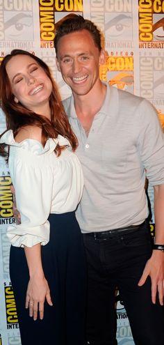 Brie Larson and Tom Hiddleston. San Diego Comic Con Warner Bros. Presentation…