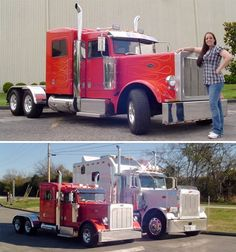 Chicagoland Petrolheads and Car Spotters: Mind blown. Company in Tennessee converts ton diesel pickup trucks Chevy Ram to mini rigs. Big Rig Trucks, Mini Trucks, Cool Trucks, Custom Big Rigs, Custom Trucks, Gta 5, Chevy 2500hd, Diesel Pickup Trucks, Peterbilt Trucks