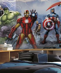Avengers Assemble Pre-Pasted Wall Mural | zulily