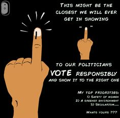 probably the closest we will get in showing a finger to a politician....vote and get the right...