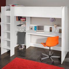 PARISOT KIDS SWAN HIGH LOFT SLEEPER in White with Storage