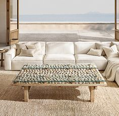Como Modular U-Sofa Sectional Rugs In Living Room, Bars For Home, Furniture, Sectional Sofa, Sectional, Beach House Rug, Stone Coffee Table, Outdoor Sofa, Dream Living Rooms