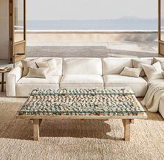Como Modular U-Sofa Sectional Indoor Outdoor Rugs, Outdoor Sofa, Stone Coffee Table, Coffee Tables, Tidy Room, Industrial, Modular Sofa, Jute Rug, Zaha Hadid