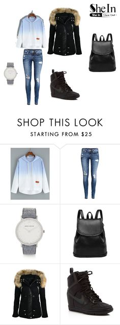 """Untitled #82"" by nermina-cergic ❤ liked on Polyvore featuring H&M, Larsson & Jennings, NIKE, women's clothing, women's fashion, women, female, woman, misses and juniors"