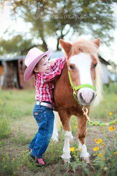 """""""Saddle-up"""" little cowboy"""