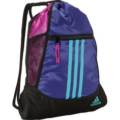 14066cea40 adidas Alliance II Sackpack ( 13) ❤ liked on Polyvore featuring bags