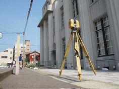 3Dレーザースキャナーで計測している様子(写真:NTTファシリティーズ)