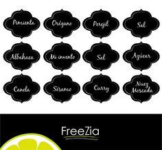 etiquetas para imprimir gratis condimentos - Buscar con Google Printable Labels, Printables, Kitchen Labels, Spice Labels, Blank Labels, Home Board, Print And Cut, Organizer, Silhouette Cameo