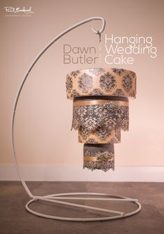 Lovely Chandelier/Hanging Wedding Cake by Dawn Butler tutorial is now available on our website so watch so you can recreate this!!  http://www.designer-cakes.com/online-cake-decorating-courses/hanging-chandelier-wedding-cake