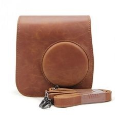 New Classic Vintage Leather Camera Strap Bag Case Cover Pouch Protector For Polaroid Camera For Fuji Fujifilm Instax Mini 8 Fuji Instax Mini, Fujifilm Instax Mini 7s, Instax Mini Camera, Fujifilm Polaroid, Polaroid Mini 8, Fuji Polaroid, Polaroid Ideas, Polaroid Cameras, Fuji Camera