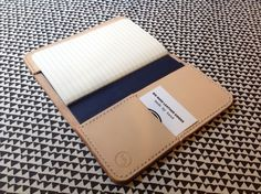 A5 Leather Notebook Cover with card holder for Moleskine or Field Notes