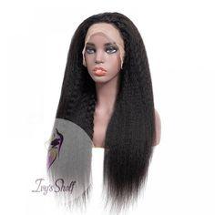 Black Long Kinky Straight Lace Remy Human Hair Wig Price: 69.41 & FREE Shipping #hashtag3 Remy Human Hair, Human Hair Wigs, Hair Density, Moisturize Hair, Peruvian Hair, Hair Type, Wig Hairstyles, Kinky, Free Shipping
