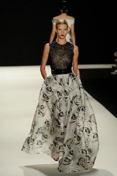 Naeem Khan black and white gown
