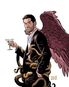 (my illustration is based on Lucifer comicbook cover by Christopher Moeller) BY DAVID M. BUISAN