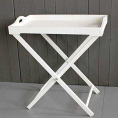HICKS and HICKS White Wood Tray table - Hicks & Hicks