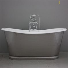 The Newminster Burnished Cast Iron French Bateau Tub Package from Penhaglion Bathtubs For Sale, Best Bathtubs, Cast Iron Bathtub, Bathroom Closet, Master Bathroom, Lakeside Cottage, House Of Beauty, Tub Faucet, Whirlpool Bathtub