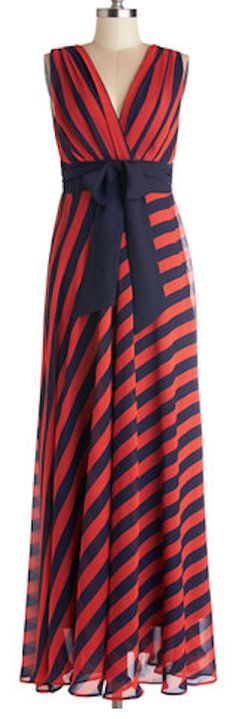 Love this #red and #navy #striped dress http://rstyle.me/n/ft4dcnyg6