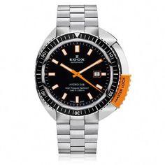 Edox 80301 3NOM NIN Men s Watch Hydro-Sub Automatic Date Orange Master Lock  500M   08a3cd0c8e