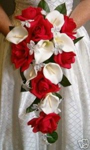 Red roses/white calla lilies <3  http://www.kaboodle.com/reviews/red-white-rose-calla-lily-silk-bridal-bouquet