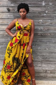 THE LEILA Skirt in Golden Yellow by AsikereAfana on Etsy. Shop the new Asikere Afana Collection. African fashion, Ankara, kitenge, Dashiki Dress, Infinity Dress, Wrap Dress, African women dresses, African prints. African Bridal, mudcloth, African prom dress, African graduation dress.