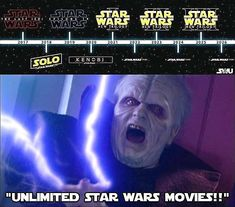 """UNLIMITED MONEY!!!"" - Disney but I'm super excited about the upcoming future I hope they maintain the soul and integrity of the star wars universe Credits to starwars_explored"