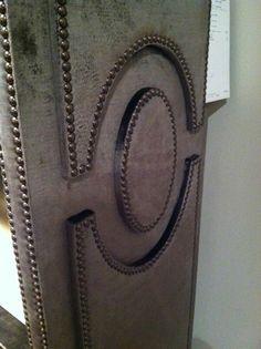 Front door idea....Door detail, nailheads