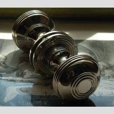 £75. Very interesting  A+pair+of+large+nickel+'Semi-Beehive'+door+knobs