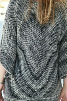 Garter cheveron blouse