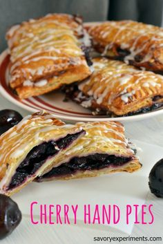 Cherry Hand Pie Recipe- Perfect in their imperfection, these only take 6 ingredients! #handpies www.savoryexperiments.com
