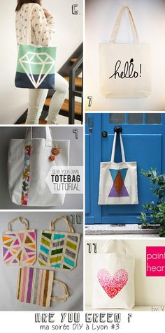 2clics: tote bags DIY