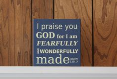 Canvas Art Print, Christian Home Decor, Baptism Gift, New Baby Gift, Psalm 139 - pinned by pin4etsy.com